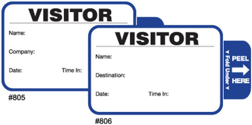 Tab-Expiring Visitor Badges with Visitor Pass Registry Book