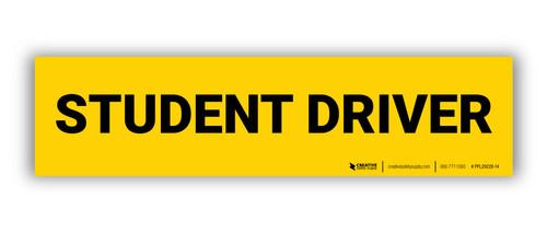 Student Driver Label