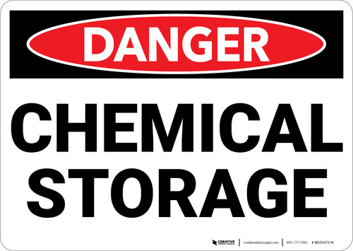 Danger: Chemical Storage - Wall Sign