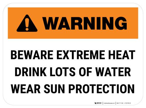 Warning Beware Extreme Heat Rectangle - Floor Sign