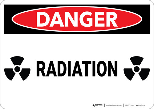 Danger: Radiation Warning - Wall Sign