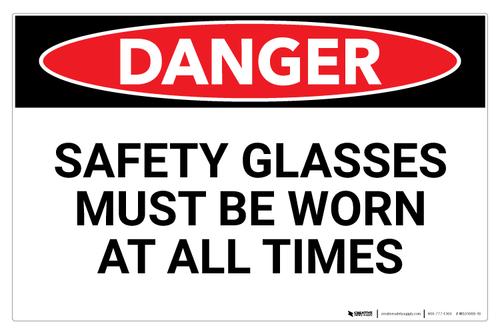 Danger: Safety Glasses (Wall)