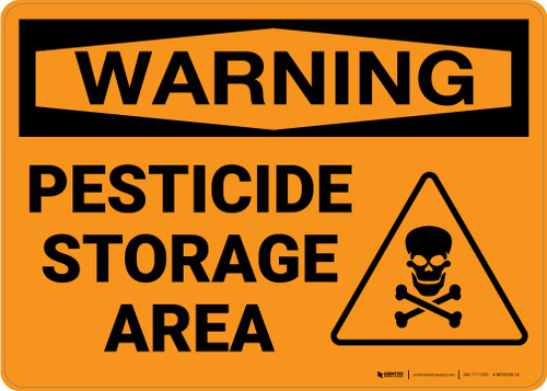 Warning: Pesticide Storage Area - Wall Sign