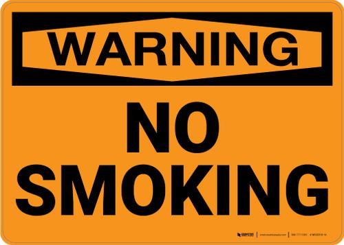 Warning: No Smoking - Wall Sign
