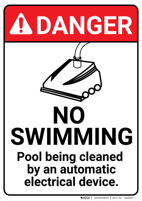 Danger: No Swimming Device - Wall Sign