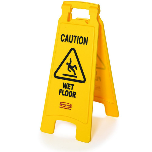 Two-Sided Caution Wet Floor Sign