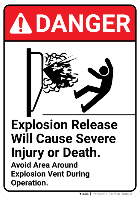Danger: Explosion Release ANSI - Wall Sign