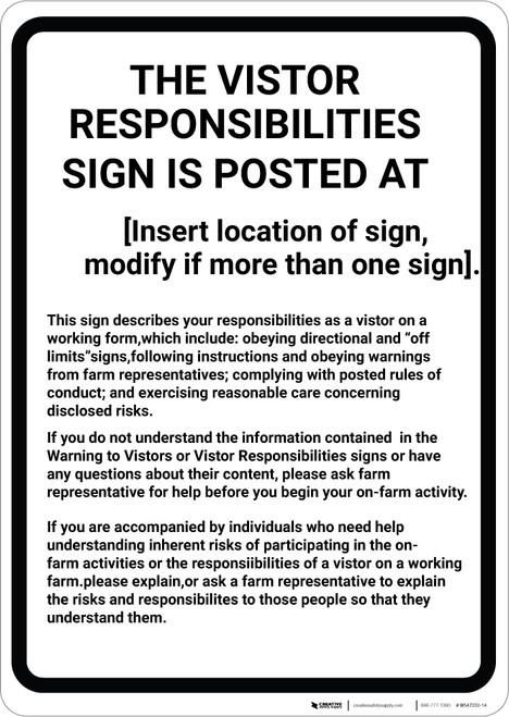 Massachusetts Equine Liability MA - Wall Sign