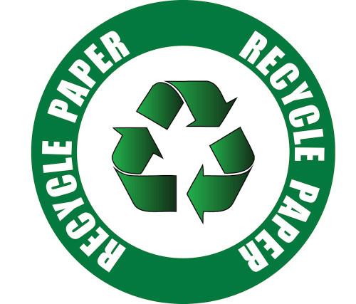 Recycle Paper - Floor Sign