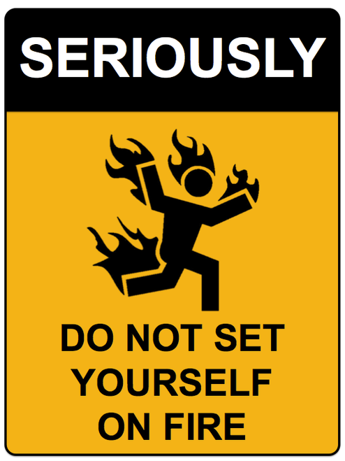 Seriously On Fire Wall Sign