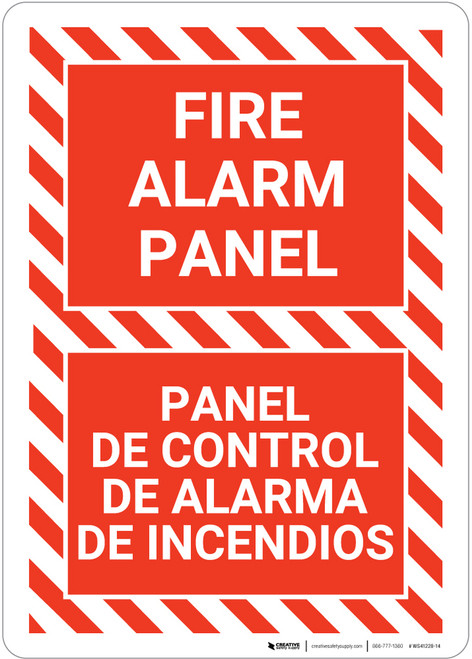 Fire Alarm Panel Bilingual Spanish - Wall Sign