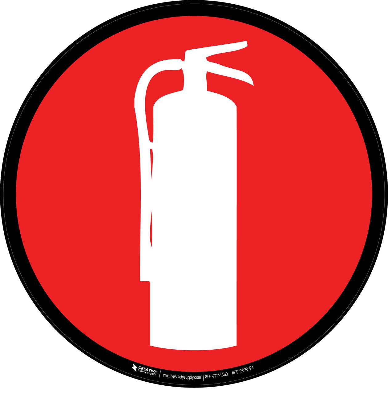 Fire Extinguisher Symbol Floor Sign Creative Safety Supply