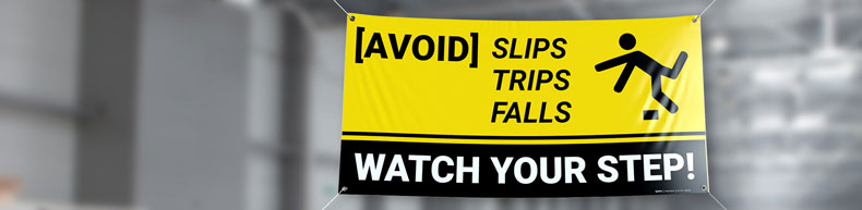 Slip Trip And Fall Banners