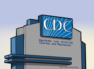 Building sign which reads CDC Centers For Disease Control and Prevention