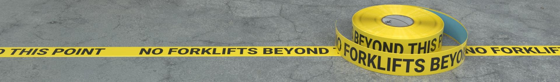 Forklift Safety Inline Tape