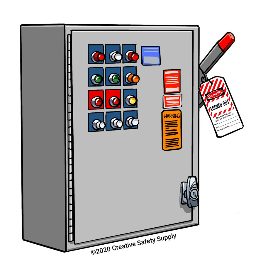 Lockout Tagout Panel