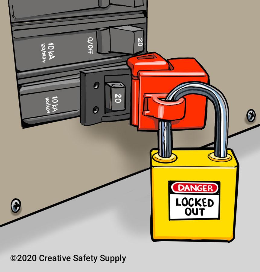 LOTO Breaker Device