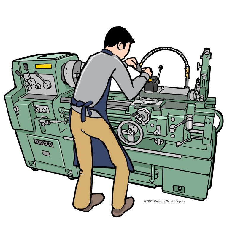 Worker performing maintenance