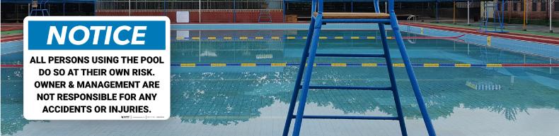 Pool Warning Signs
