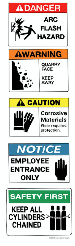 What Are Types Of Signs In The Workplace Creative Safety Supply