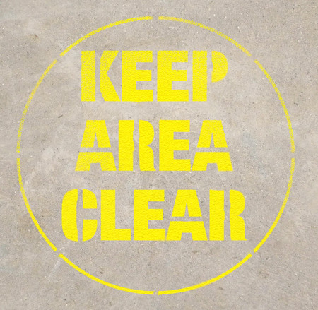 Keep Area Clear Stencil Creative Safety Supply