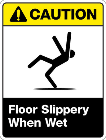 Caution Slippery When Wet Wall Sign Creative Safety Supply