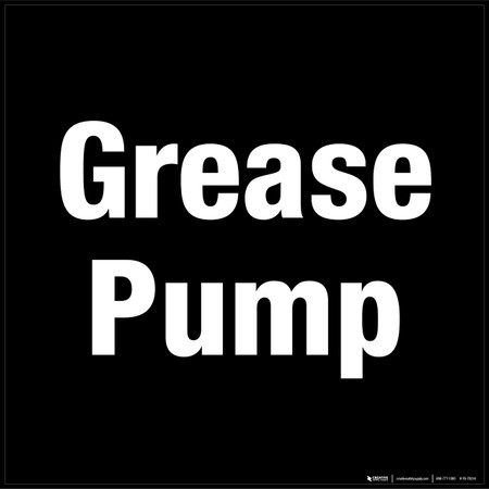 Grease Pump Floor Sign Creative Safety Sup