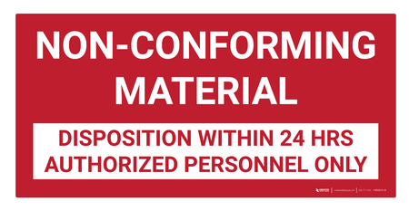 Non Conforming Material Wall Sign