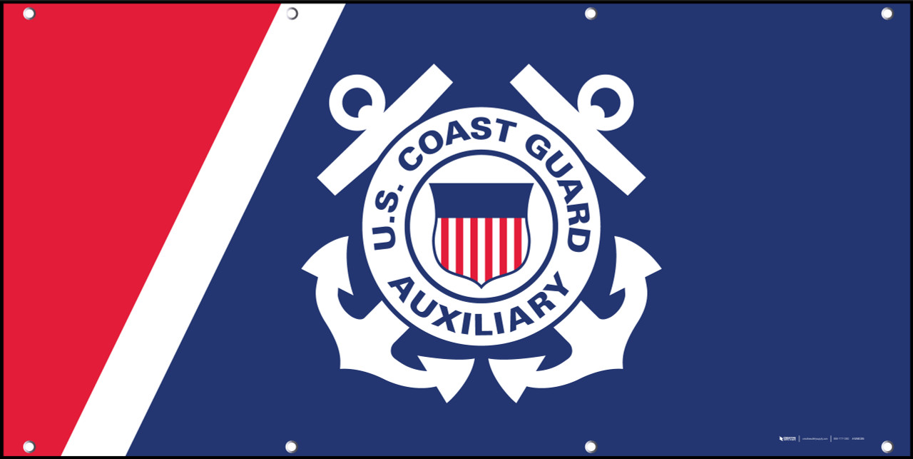 U.S. Coast Guard Auxiliary Flag - Banner