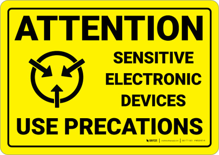 Warning Static Sensitive Electronic Devices Wall Sign