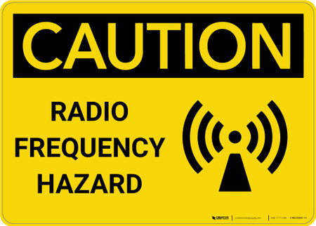 """FC4 7/"""" X 7/"""" RADIO FREQUENCY HAZARD PACEMAKER WARNING SIGN ALUMINUM"""