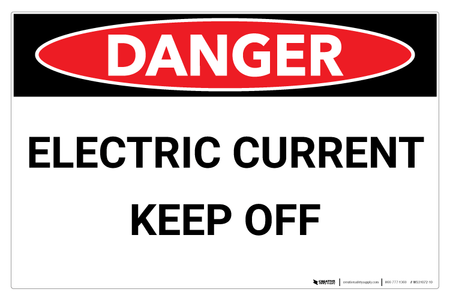 Danger Electric Current Wall Sign Creative Safety Supply