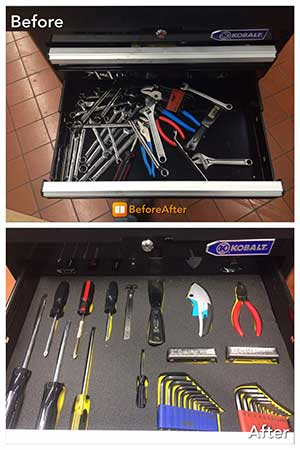 Foam Tool Organzier