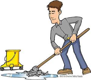 Floor Marking Cleaning