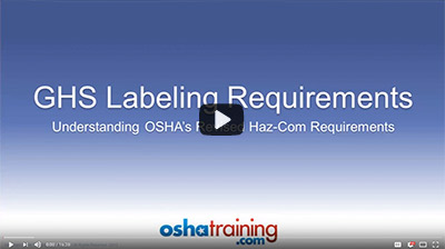 video: GHS Labeling Requirements
