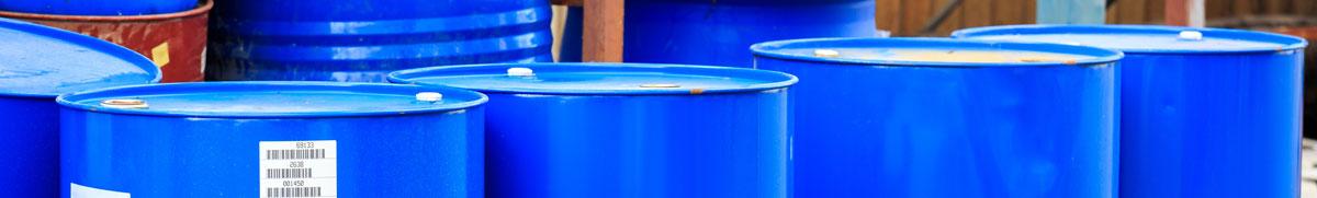 Barrels with labels