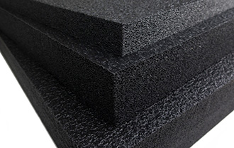 Close up of thick closed cell foam