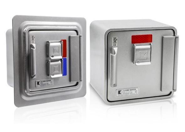 Model #4409- Surface Mount, Single Lock, Aluminum  Model #4441- Recessed Mount, Dual Lock, Aluminum