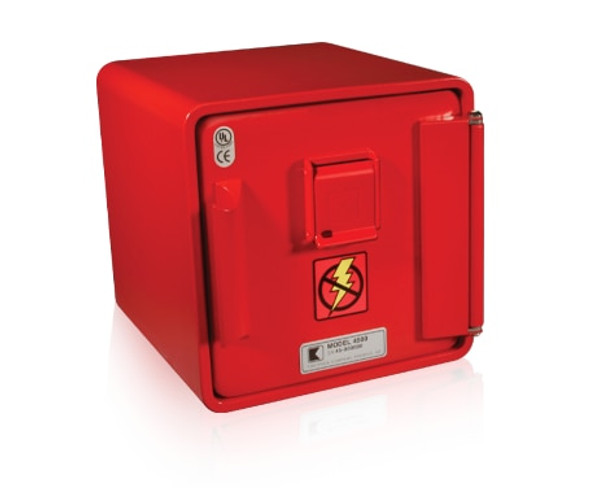 4505-  Knox Remote Power Box, Surface Mount, Single Lock, Red