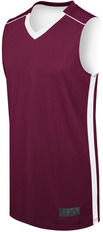 Maroon Adult Competition Reversible Jersey