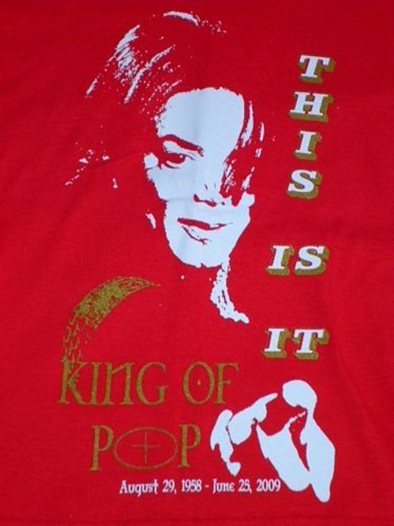 King Of Pop Custom Designs For T-Shirts
