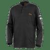 Black - 332 100% Cotton Fire Resistance Interlock 7oz Henley Shirt   Safetywear.ca
