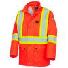 Hi-Viz Orange - 5892PKT Fire Resistance Polyurethane Waterproof Safety Jacket | Safetywear.ca