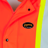 Hi-Viz Orange - Logo, 5892PKT Fire Resistance Polyurethane Waterproof Safety Jacket | Safetywear.ca