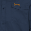 Navy - Back, 4404 Polyester/Cotton Long Sleeved Work Shirt  | Safetywear.ca