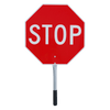 """4561 Red/Yellow Traffic """"Stop/Slow"""" Paddle - 18"""" 