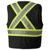 135 Hi-Viz Traffic Vest Back | Safetywear.ca