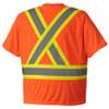 Orange, Back - 6990 Birdseye Safety T-Shirt | Safetywear.ca