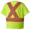 Yellow Green - 6991 Hi-Viz Birdseye Safety T-Shirt
