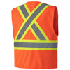 156 Hi-Viz Zipper Front Safety Vest, Back | Safetywear.ca